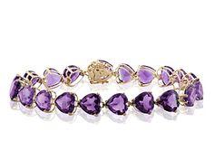 Yellow Gold Amethyst Bracelet on sale $2,361