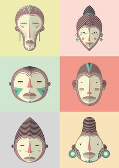 AFRICAN MASK - CHOKE.ES by CHOKE, via Behance