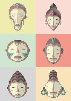 AFRICAN MASK - CHOKE.ES by CHOKE, via Behance