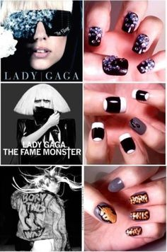 Lady Gaga nail art!