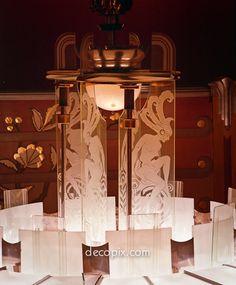 Lamp, Wiltern Theatre, Los Angeles, California - Decopix - The Art Deco Architecture Site - Art Deco Glass Gallery