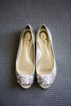 wedding day flats - Kate Spade makes the most festive flat shoes!