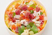 """""""Tokujo-Irodoribarachirashi"""" from Midori-Sushi"""