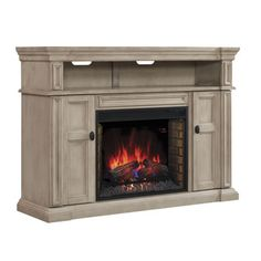 Wyatt 28-inch Classic Flame Indoor Electric Infrared Fireplace Media Mantel in Soft White
