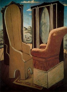 Furniture in the Valley - Giorgio de Chirico
