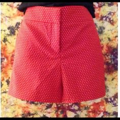 HP 2/27/15 Red shorts with white polka dots. Cute shorts.  Never been worn. Cynthia Rowley Other