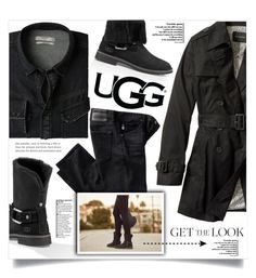 """""""The New Classics With UGG: Contest Entry"""" by dolly-valkyrie ❤ liked on Polyvore featuring MANGO MAN, Banana Republic, AG Adriano Goldschmied, UGG and ugg"""