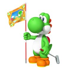 #Yoshi in the new #MarioGolf game Mario Golf: World tour for #Nintendo3DS  See the full art gallery for this game at http://www.superluigibros.com/mario-golf-world-tour-character-artwork