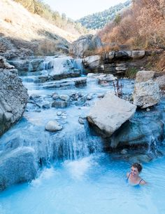 Stop for a soak at one of the many natural hot springs along this scenic road trip route in Utah, doable over a three-day weekend Camping Places, Best Places To Travel, Places To See, Utah Camping, Camping Life, Wyoming, Idaho, Nevada, Las Vegas