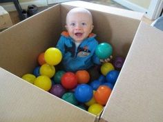 Sensory Activities for Infants - Ball. DIY Infant Ball Pit - I think I would use a variety of different balls.DIY Infant Ball Pit - I think I would use a variety of different balls. Infant Sensory Activities, Activities For Kids, Baby Play, Baby Toys, Baby Lernen, Infant Classroom, Baby Development, Toddler Fun, Baby Games