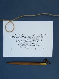 Hand Calligraphy Envelope Addressing Style by AngeliqueInk, $3.00