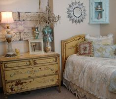Painted dresser and bed