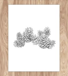 Pinecones Art Print | Welcome pinecones. Welcome Fall.