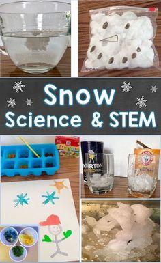 Snow Activities, Fun Activities For Kids, Science Activities, Science Education, Montessori Science, Snow Crafts, Kindergarten Stem, Winter Crafts For Kids, Preschool Winter