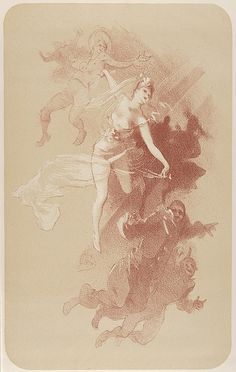 Jules Chéret (French, 1836–1932). The Dance (from L'Estampe originale, Album IV), 1893. The Metropolitan Museum of Art, New York. Rogers Fund, 1922 (22.82.1-33) #dance