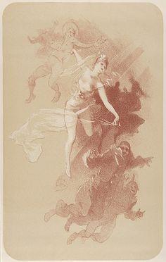 Jules Chéret (French, 1836–1932). The Dance (from L'Estampe originale, Album IV), 1893. The Metropolitan Museum of Art, New York. Rogers Fund, 1922 (22.82.1-33) #dance