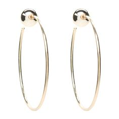 Ball Post Hoop Earrings ($19) ❤ liked on Polyvore featuring jewelry, earrings, accessories, ball earrings, bebe, bebe earrings, bebe jewelry and ball jewelry