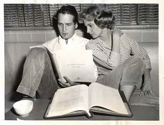 Paul Newman and Joanne Woodward read