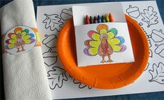 Thanksgiving Crafts for the Kids' Table