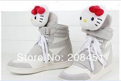 white hello kity sneakers
