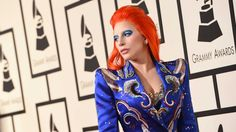 Lady Gaga Went Full David Bowie in Marc Jacobs at the Grammys. With a custom-made look and fiery red hair.