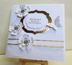 Stampin Up hand made wedding card