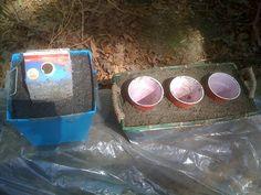 Hypertufa~ can also mix  1 part Portland cement, 2 parts sand, 3 parts shredded paper for a light papercrete version.