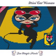 Looking for your next project? You're going to love Mini Cat Woman inspired c2c graph  by designer TwoMagicPixels.