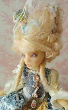 Marie Antoinette OOAK Art Doll by Joanna Thomas Inchelina