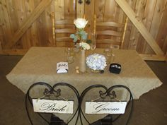 I've been deejaying dances, weddings and special events for 13 years. Wedding Props, Wedding Decorations, Sherwood Oregon, Rustic Wedding, Our Wedding, Burlap Tablecloth, Sweetheart Table, Decorative Items, Bride Groom