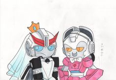 transformers mtmte more than meets the eye prowl arcee copic markers draw art work