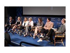 FREEZE FRAME -- MARCH 21, 2016   Multichannel At Pop's season-two screening and panel for Schitt's Creek at the Paley Center for Media in Los Angeles (l. to r.): Eugene Levy, co-creator and cast member; cast members Jennifer Robertson, Annie Murphy, Catherine O'Hara and Emily Hampshire; co-creator and cast member Daniel Levy; and panel moderator Jarett Wieselman.