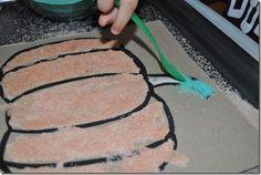 Salt Art Pumpkin