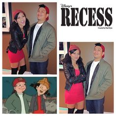 Halloween2013. Couples costumes. Recess. Spinelli and TJ.