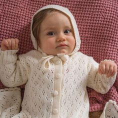 Baby Baptism Christening gown 2 piece set off white ivory Coming home outfit Knit Baby clothes Christmas gift for New baby shower