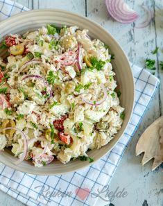 Feta Pasta, Main Meals, Potato Salad, Cauliflower, Bbq, Food Porn, Good Food, Lunch, Baking