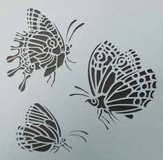 Plantilla mariposa decorativa