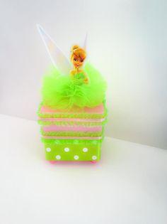 Tinkerbell, Glitter, Christmas Ornaments, Holiday Decor, Crafts, Disney, Acrylic Box, Favors, Ideas Party