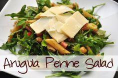 Arugula Penne Salad via MrsJanuary.com #recipe #salad