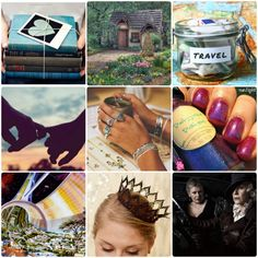 No one tagged me but I feel like I need to clarify things in my...   No one tagged me but I feel like I need to clarify things in my head so heres the life goals moodboard thing:  Left to right top to bottom:  Lead a proper book life writing All The Books (theres like 30 in my head right now)  Live somewhere beautiful and beloved with a lovely garden  Travel. All the time whenever I want to see who I want.  Love. The right kind that makes people question their life because ours is so good…