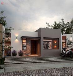 Minimal House Design, Modern Small House Design, Modern Exterior House Designs, House Front Design, Dream House Exterior, Exterior Design, Simple House Exterior, House Outside Design, Modern House Facades