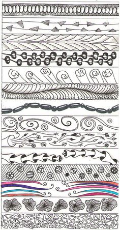 doodle tangle patterns