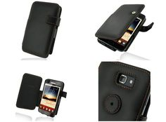 PDair Leather Case for Samsung Galaxy Note GT-N7000/GT-i9220/LTE SGH-i717/SGH-T879 - Book Type (Black/Orange Stitchings)
