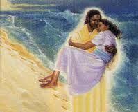 weary jesus carrying