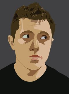 Vector image, self portrait.
