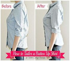 how to tailor a shirt for a perfect fit, crafts