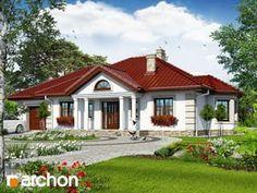 Dom pod jarząbem 6 (G) Home Building Design, Home Design Plans, Building A House, Bungalow House Design, Modern House Design, Red Roof House, Architectural House Plans, New Home Designs, House Layouts