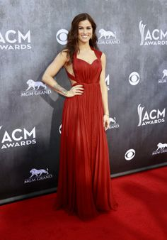 Cassadee Pope in a Maria Lucia Hohan gown at the 2014 ACM Awards