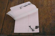 Classiky Glassine Paper Graph Notepad - Keys by niconecozakkaya on Etsy
