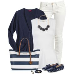 Navy & White - transition to Spring